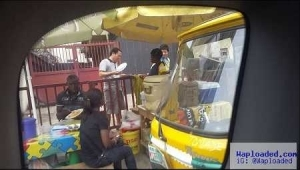 Unbelievable!! See What Chinese Men Were Spotted Doing Publicly in Ikeja, Lagos (Photos)